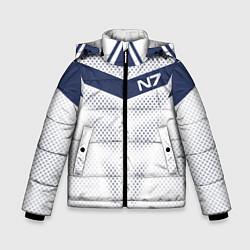 Куртка зимняя для мальчика N7: White Armor цвета 3D-черный — фото 1