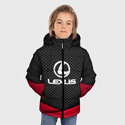 Куртка зимняя для мальчика Lexus: Grey Carbon цвета 3D-черный — фото 2
