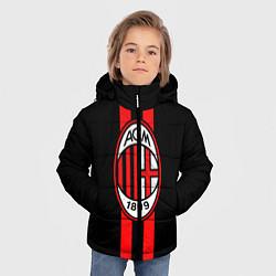 Куртка зимняя для мальчика AC Milan 1899 цвета 3D-черный — фото 2