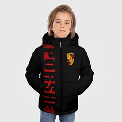 Куртка зимняя для мальчика Porsche: Red Line цвета 3D-черный — фото 2