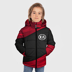 Детская зимняя куртка для мальчика с принтом Kia: Red Sport, цвет: 3D-черный, артикул: 10152996306063 — фото 2