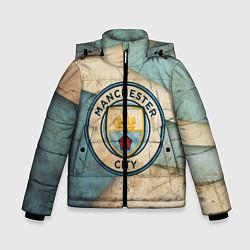 Детская зимняя куртка для мальчика с принтом FC Man City: Old Style, цвет: 3D-черный, артикул: 10153083706063 — фото 1