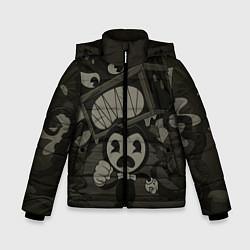 Куртка зимняя для мальчика Bendy Devil цвета 3D-черный — фото 1