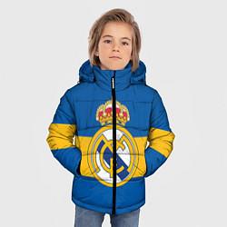 Куртка зимняя для мальчика Реал Мадрид цвета 3D-черный — фото 2