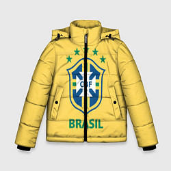 Куртка зимняя для мальчика Brazil Team цвета 3D-черный — фото 1