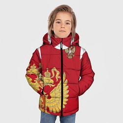 Детская зимняя куртка для мальчика с принтом Сборная России: эксклюзив, цвет: 3D-черный, артикул: 10154339306063 — фото 2