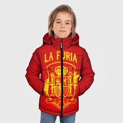 Куртка зимняя для мальчика La Furia цвета 3D-черный — фото 2
