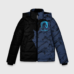 Детская зимняя куртка для мальчика с принтом CS:GO Team Liquid, цвет: 3D-черный, артикул: 10154948506063 — фото 1