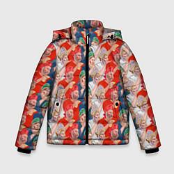 Детская зимняя куртка для мальчика с принтом Истинные фанаты России, цвет: 3D-черный, артикул: 10155766106063 — фото 1