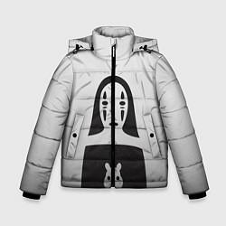 Детская зимняя куртка для мальчика с принтом Унесенные призраками, цвет: 3D-черный, артикул: 10155871506063 — фото 1