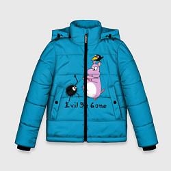 Куртка зимняя для мальчика Унесённые призраками цвета 3D-черный — фото 1