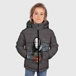Детская зимняя куртка для мальчика с принтом Унесенные призраками, цвет: 3D-черный, артикул: 10156081306063 — фото 2