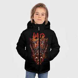 Детская зимняя куртка для мальчика с принтом Slayer Hell, цвет: 3D-черный, артикул: 10156600906063 — фото 2