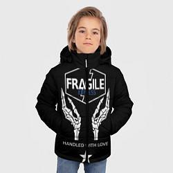 Куртка зимняя для мальчика Death Stranding: Fragile Express цвета 3D-черный — фото 2