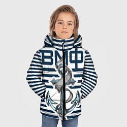 Куртка зимняя для мальчика Якорь ВМФ цвета 3D-черный — фото 2