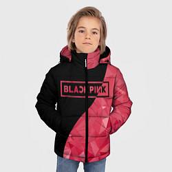 Куртка зимняя для мальчика Black Pink: Pink Polygons цвета 3D-черный — фото 2