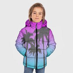 Куртка зимняя для мальчика Пальмы 80s цвета 3D-черный — фото 2