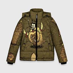 Куртка зимняя для мальчика Wild Wilson цвета 3D-черный — фото 1