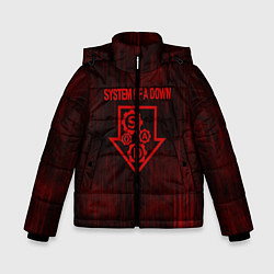 Куртка зимняя для мальчика System of a Down цвета 3D-черный — фото 1