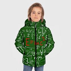 Куртка зимняя для мальчика E=mc2: Green Style цвета 3D-черный — фото 2