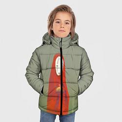 Детская зимняя куртка для мальчика с принтом Унесенные призраками, цвет: 3D-черный, артикул: 10161273706063 — фото 2