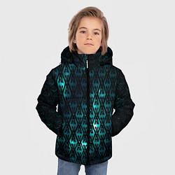 Куртка зимняя для мальчика TES: Blue Pattern цвета 3D-черный — фото 2