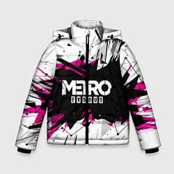 Детская зимняя куртка для мальчика с принтом Metro: Exodus Purple, цвет: 3D-черный, артикул: 10161592906063 — фото 1