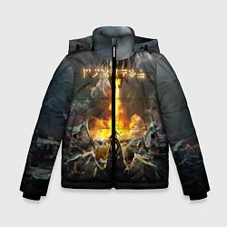 Куртка зимняя для мальчика TES: Dragon Flame цвета 3D-черный — фото 1