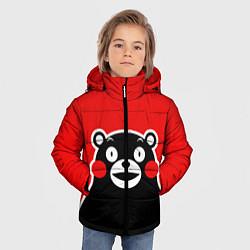 Куртка зимняя для мальчика Kumamon Smile цвета 3D-черный — фото 2