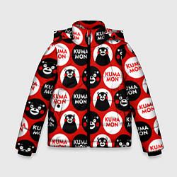 Детская зимняя куртка для мальчика с принтом Kumamon Pattern, цвет: 3D-черный, артикул: 10162550706063 — фото 1
