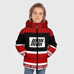 Куртка зимняя для мальчика IKON Stripes цвета 3D-черный — фото 2