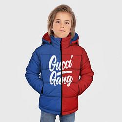 Куртка зимняя для мальчика Gucci Gang: Blue & Red цвета 3D-черный — фото 2