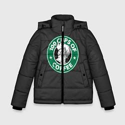 Куртка зимняя для мальчика 100 cups of coffee цвета 3D-черный — фото 1