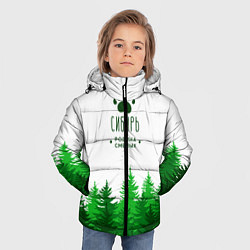 Куртка зимняя для мальчика Сибирь - родина смелых цвета 3D-черный — фото 2