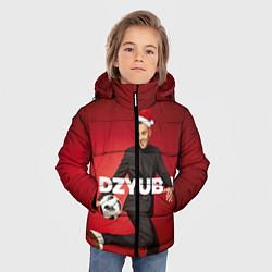Куртка зимняя для мальчика Новогодний Дзюба цвета 3D-черный — фото 2