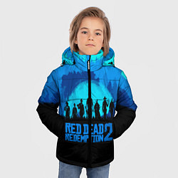 Куртка зимняя для мальчика RDR 2: Blue Style цвета 3D-черный — фото 2