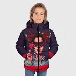 Куртка зимняя для мальчика GONE Fludd цвета 3D-черный — фото 2