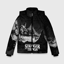 Куртка зимняя для мальчика Stranger Things: Black Hut цвета 3D-черный — фото 1