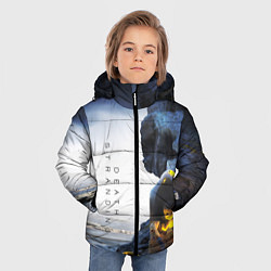 Куртка зимняя для мальчика Death Stranding: Exclusive цвета 3D-черный — фото 2