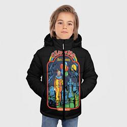 Детская зимняя куртка для мальчика с принтом Clowns Are Funny, цвет: 3D-черный, артикул: 10170996306063 — фото 2