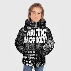 Куртка зимняя для мальчика Arctic Monkeys: I'm in a Vest цвета 3D-черный — фото 2