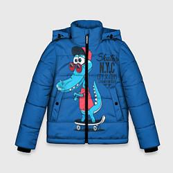 Куртка зимняя для мальчика Skate NYC цвета 3D-черный — фото 1