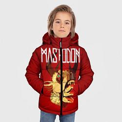 Детская зимняя куртка для мальчика с принтом Mastodon: Leviathan, цвет: 3D-черный, артикул: 10172762506063 — фото 2