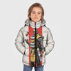 Куртка зимняя для мальчика Apex Legends: Caustic цвета 3D-черный — фото 2