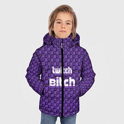 Куртка зимняя для мальчика Twitch Bitch цвета 3D-черный — фото 2