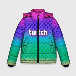 Куртка зимняя для мальчика Rainbow Twitch цвета 3D-черный — фото 1