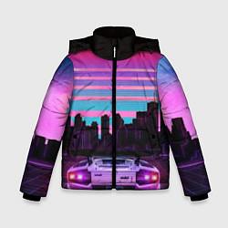 Куртка зимняя для мальчика Racing 80s цвета 3D-черный — фото 1