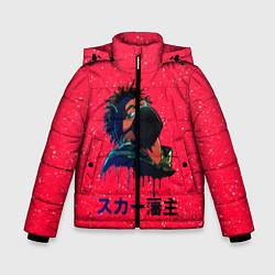 Куртка зимняя для мальчика SCARLXRD Rap цвета 3D-черный — фото 1
