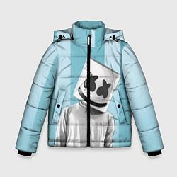 Куртка зимняя для мальчика Marshmello цвета 3D-черный — фото 1