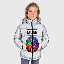 Куртка зимняя для мальчика Muse цвета 3D-черный — фото 2